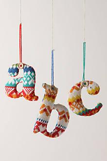 Stocking Monogram Ornament