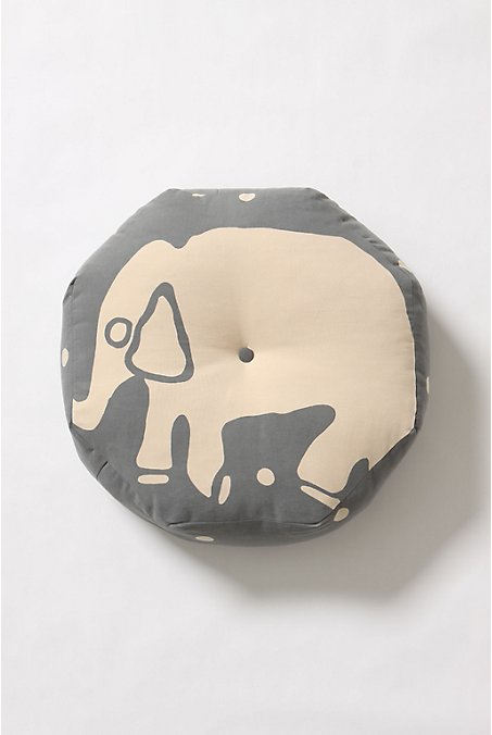 Fluffy Elephant Floor Cushion - Anthropologie.com :  pillow apartment boho house