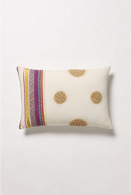 Solar Flares Pillow, White - Anthropologie.com :  pillow anthropologie apartment boho