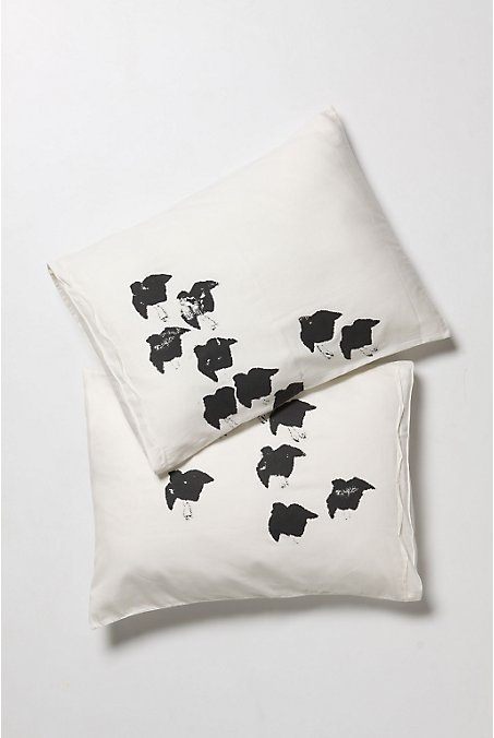 Flock Pillowcases - Anthropologie.com :  pillow case anthropologie pillowcases home accents