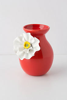 White Poppy Vase