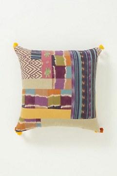 Abstract Ikat Pillow, Medium