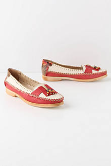 Red Voltaic Loafers