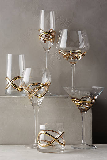 Glimmer-Wrapped Glassware