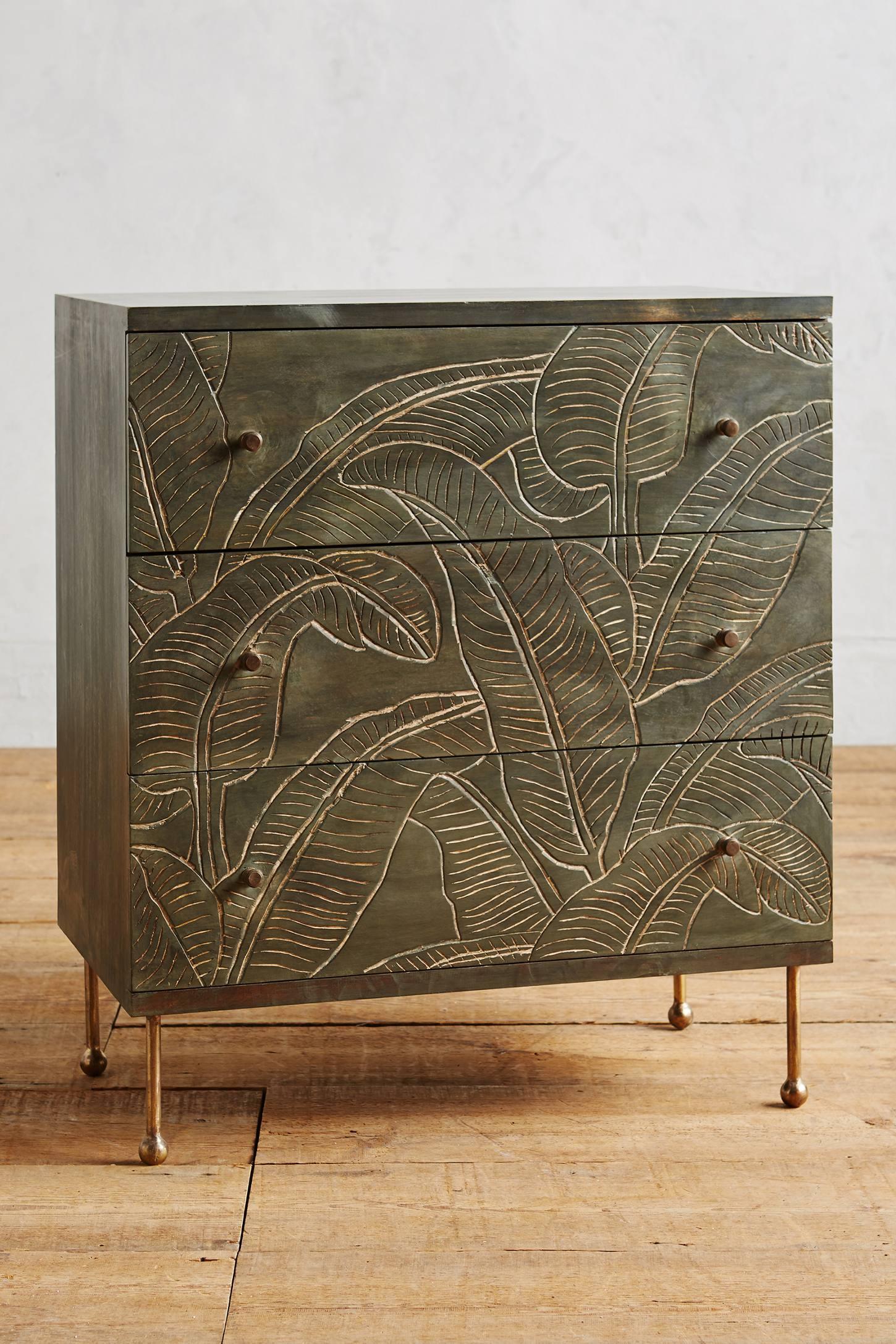 Liri Leaf Three-Drawer Dresser