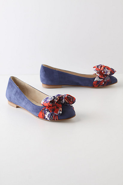 Scarf-Topped Skimmers - Anthropologie.com