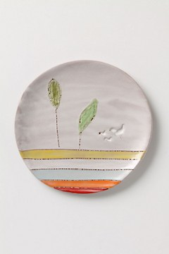 Artful Dinner Plate, Striated Earth