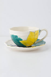 Palette-Sketch Teacup & Saucer