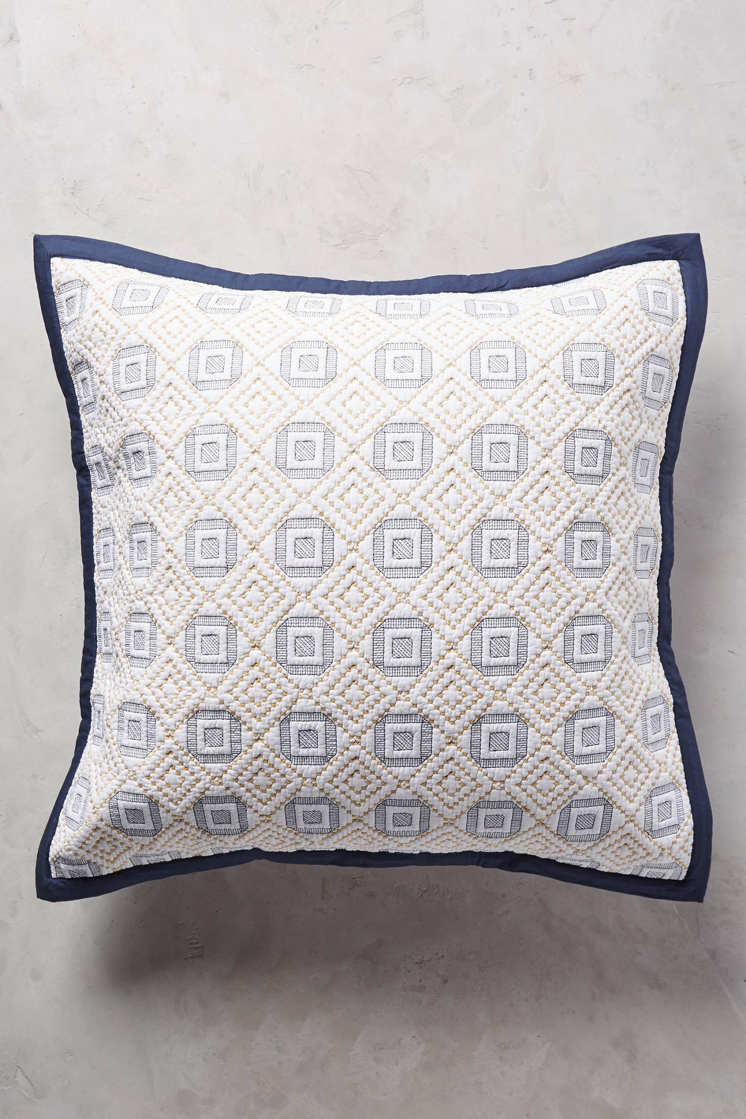 Diamond-Stitched Square Pillow Case