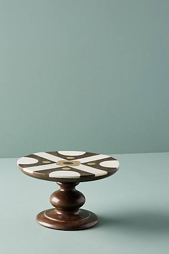 Bone Inlay Cakestand