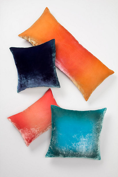 Ombre Velvet Pillows - Anthropologie