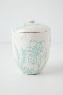 Handpainted Vieque Canister