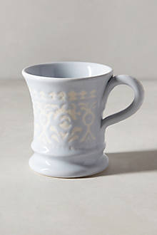 Brushed Filigree Mug