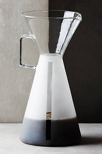 Frosted Glass Coffee Carafe