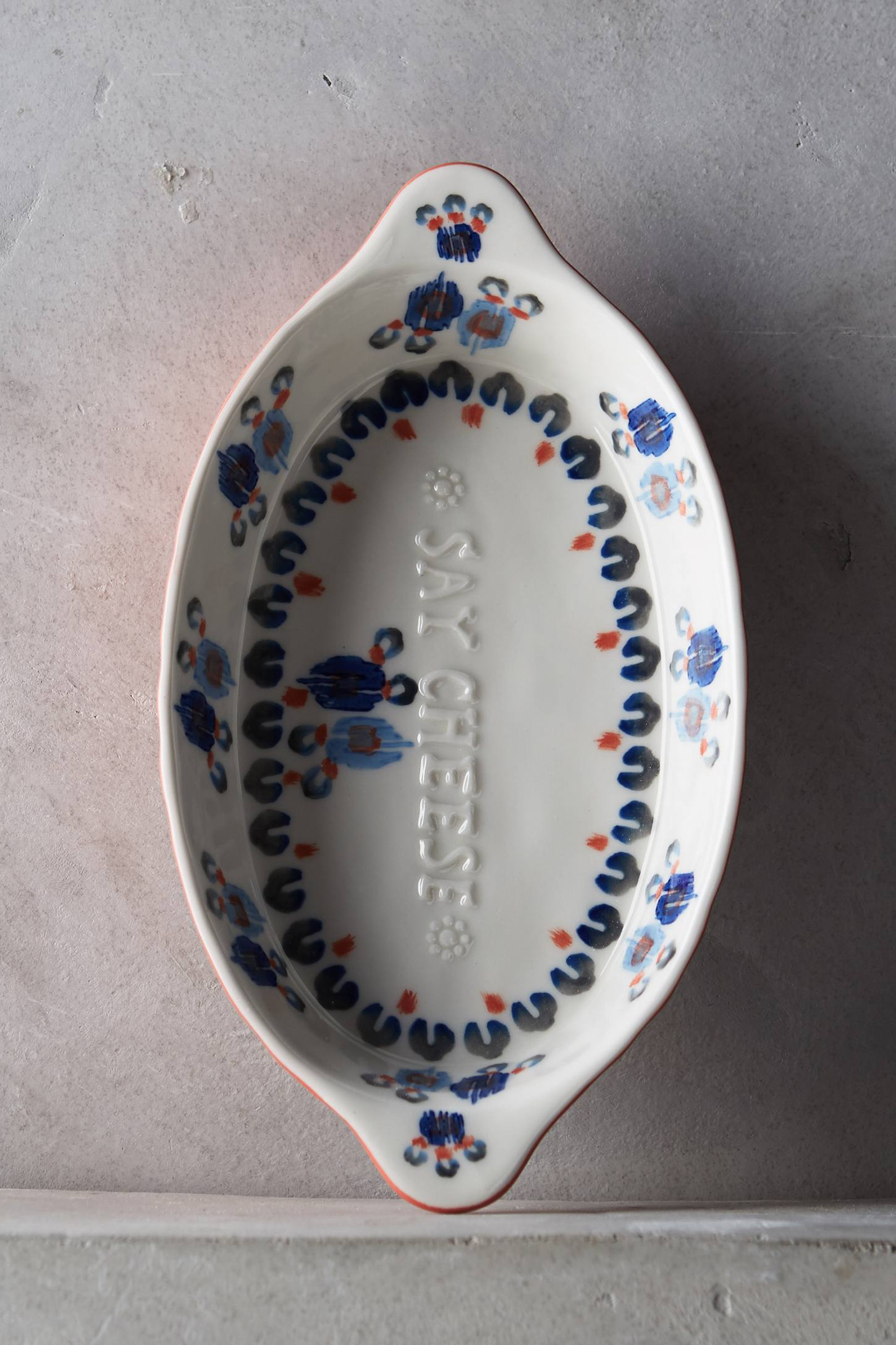 Handpainted Lucerne Gratin Dish