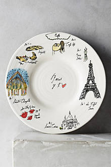 City vignette canape plate for Calligrapher canape plate anthropologie