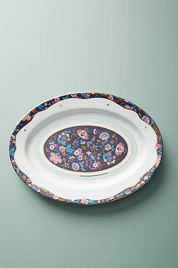 Liberty for Anthropologie Mabelle Floral Platter