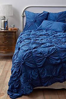 Rosette Bedding, New Blue