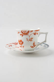 Unlikely Symmetry Floral Teacup & Saucer