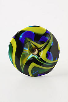 Molten Spectrum Knob, Cool Swirls