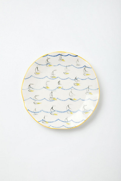 Ponza tiny ships canape plate for Calligrapher canape plate anthropologie