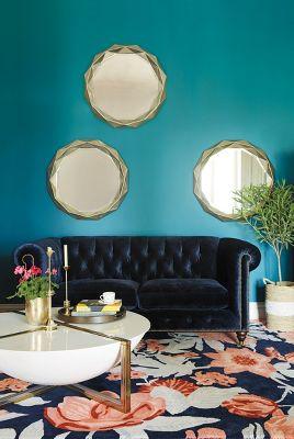 Slub Velvet Lyre Chesterfield Petite Sofa, Hickory