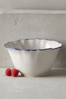 Ruffled Rim Bowl