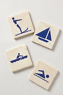 Botticino Marble Coasters