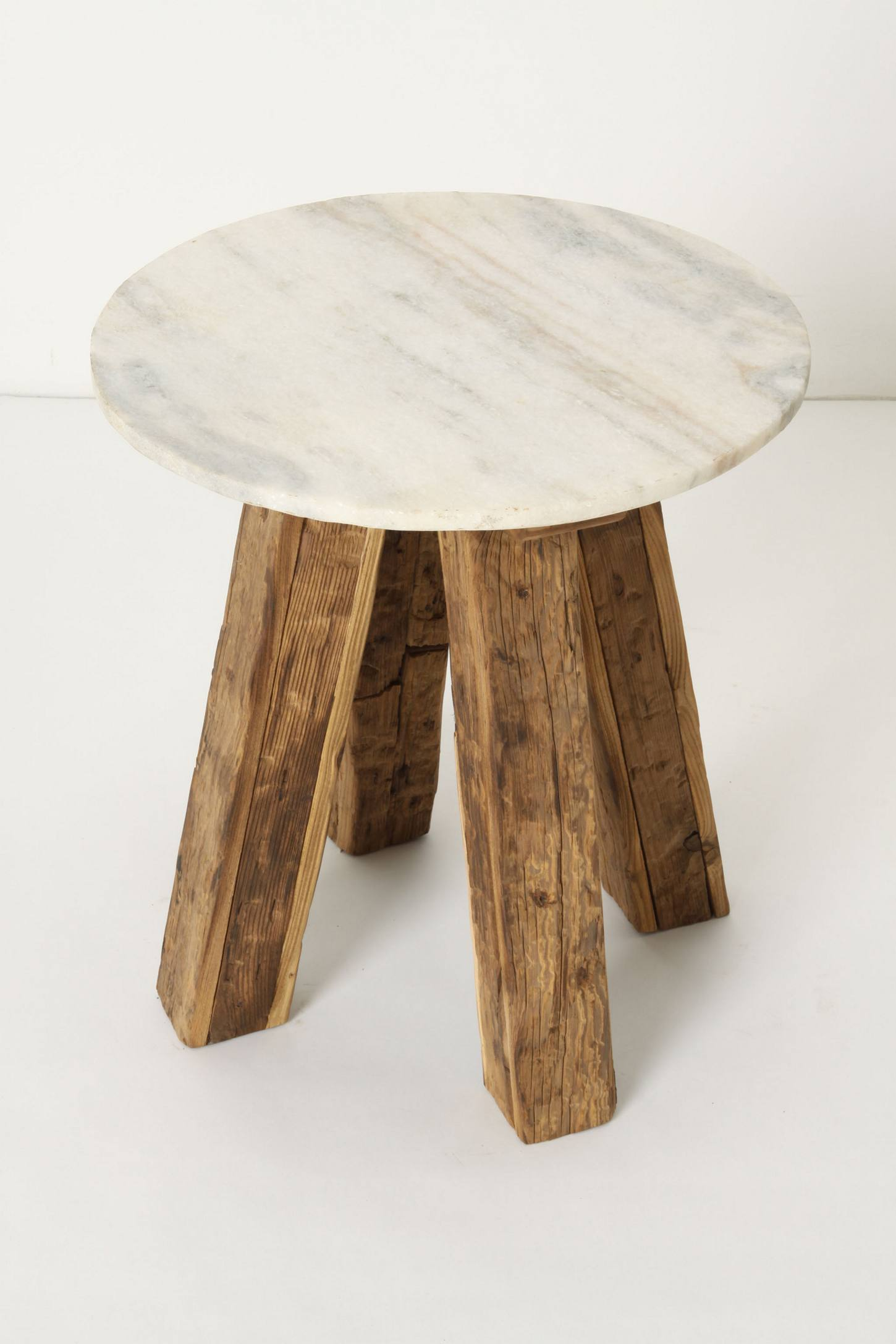 Marble-Top Side Table