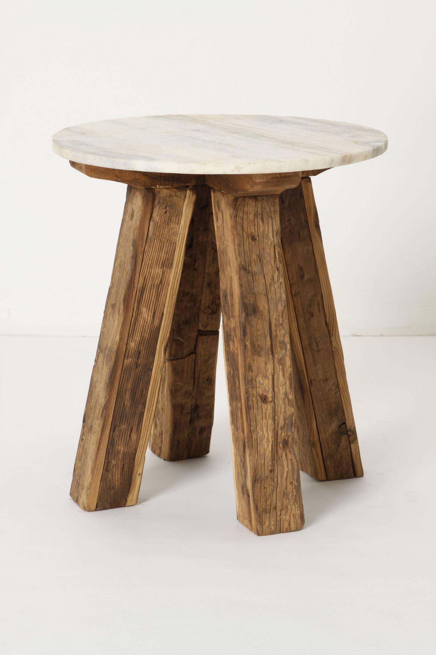 Side Table: Marble-Top Side Table