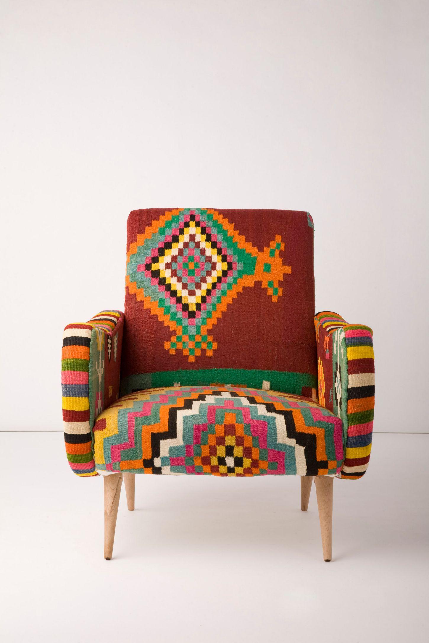 e A Kind Berr Armchair Aztec