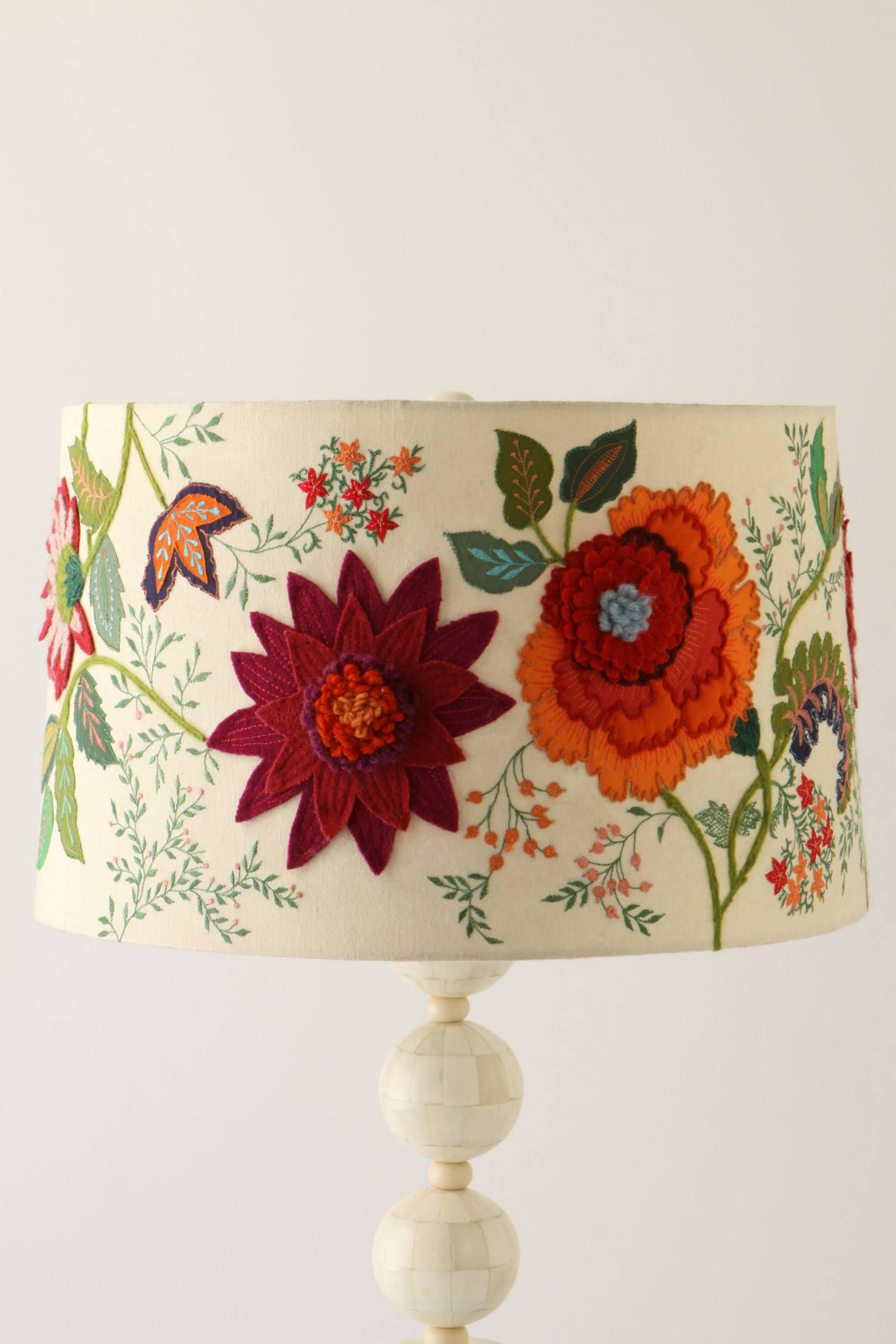 Needlework Garden Lamp Shade Anthropologie
