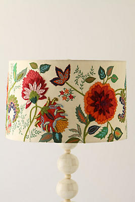Slide view 1 needlework garden lamp shade