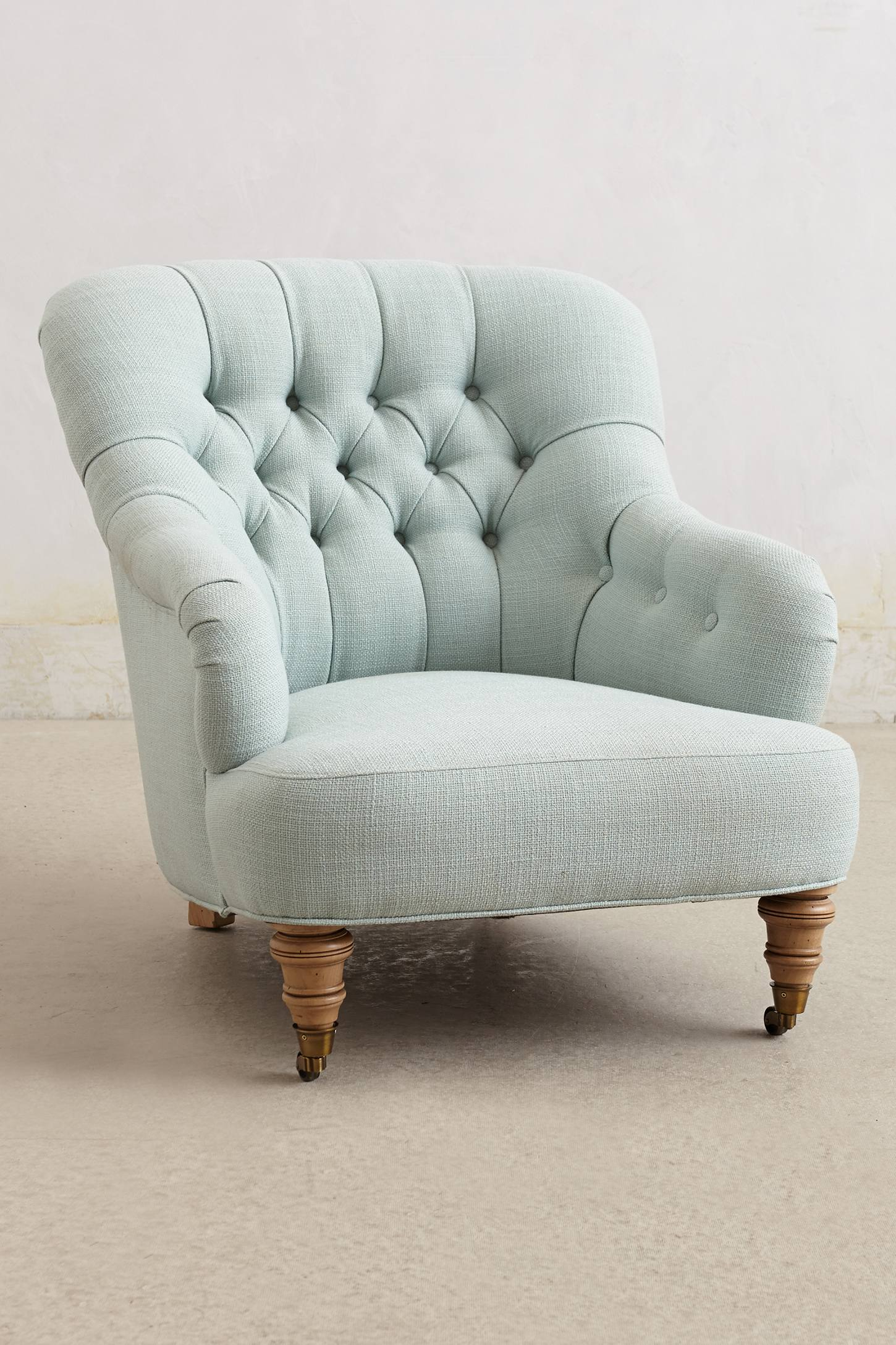 Linen corrigan chair anthropologie for Grey comfy chair