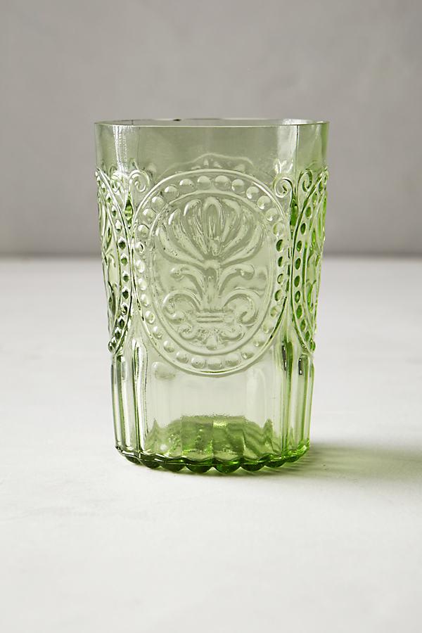 Fleur De Lys Tumbler - Green, Size Tumbler