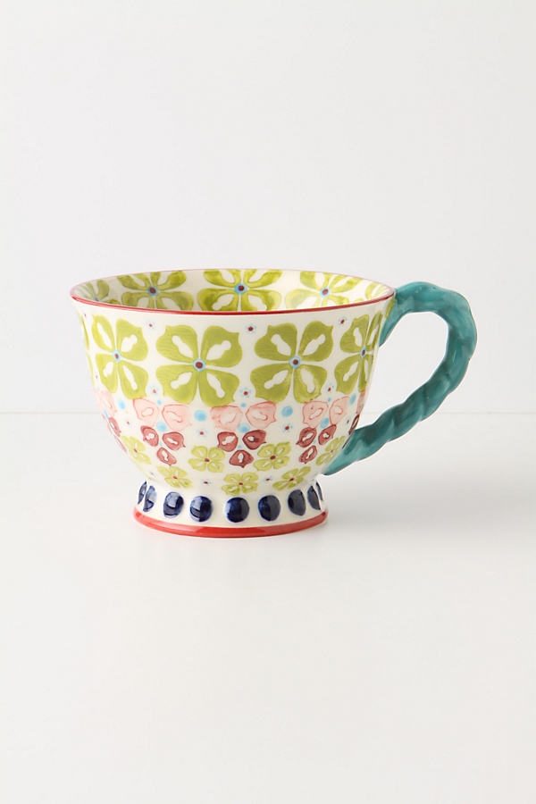 With A Twist Teacup - Yellow, Size Mug