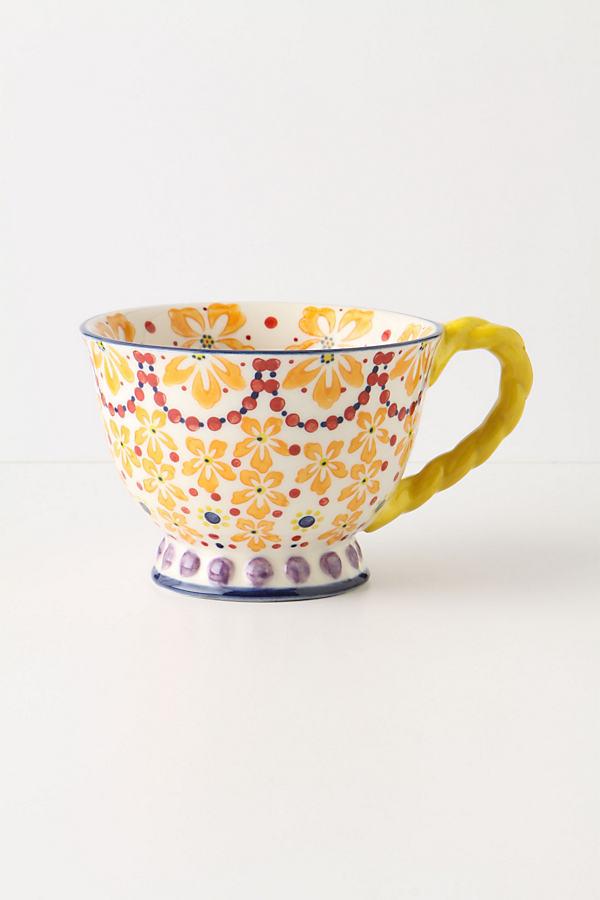 With A Twist Teacup - Orange, Size Mug
