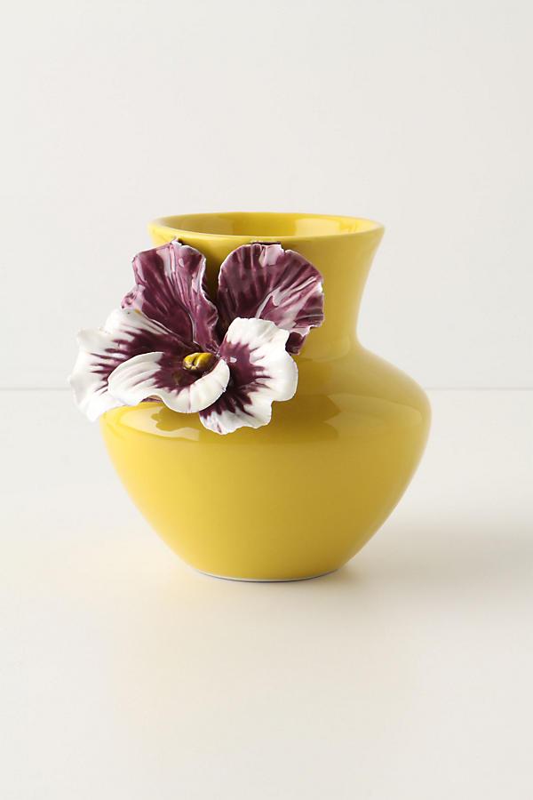Pretty Pansy Vase Anthropologie
