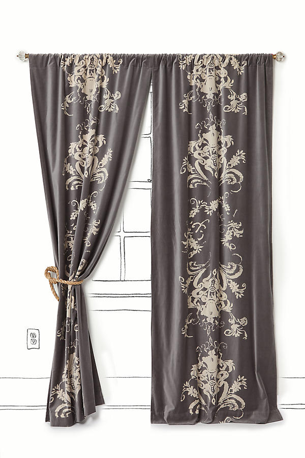 Slide View: 1: Viceroy Velvet Curtain