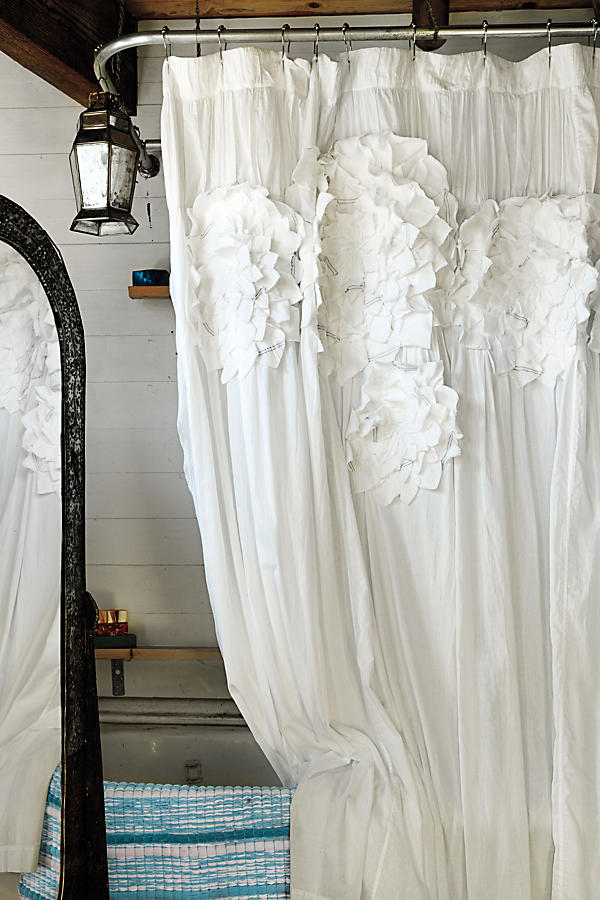 Slide View: 2: Sculpted Mums Shower Curtain