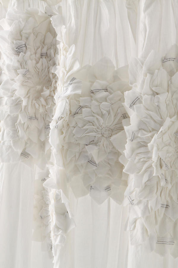 Slide View: 3: Sculpted Mums Shower Curtain