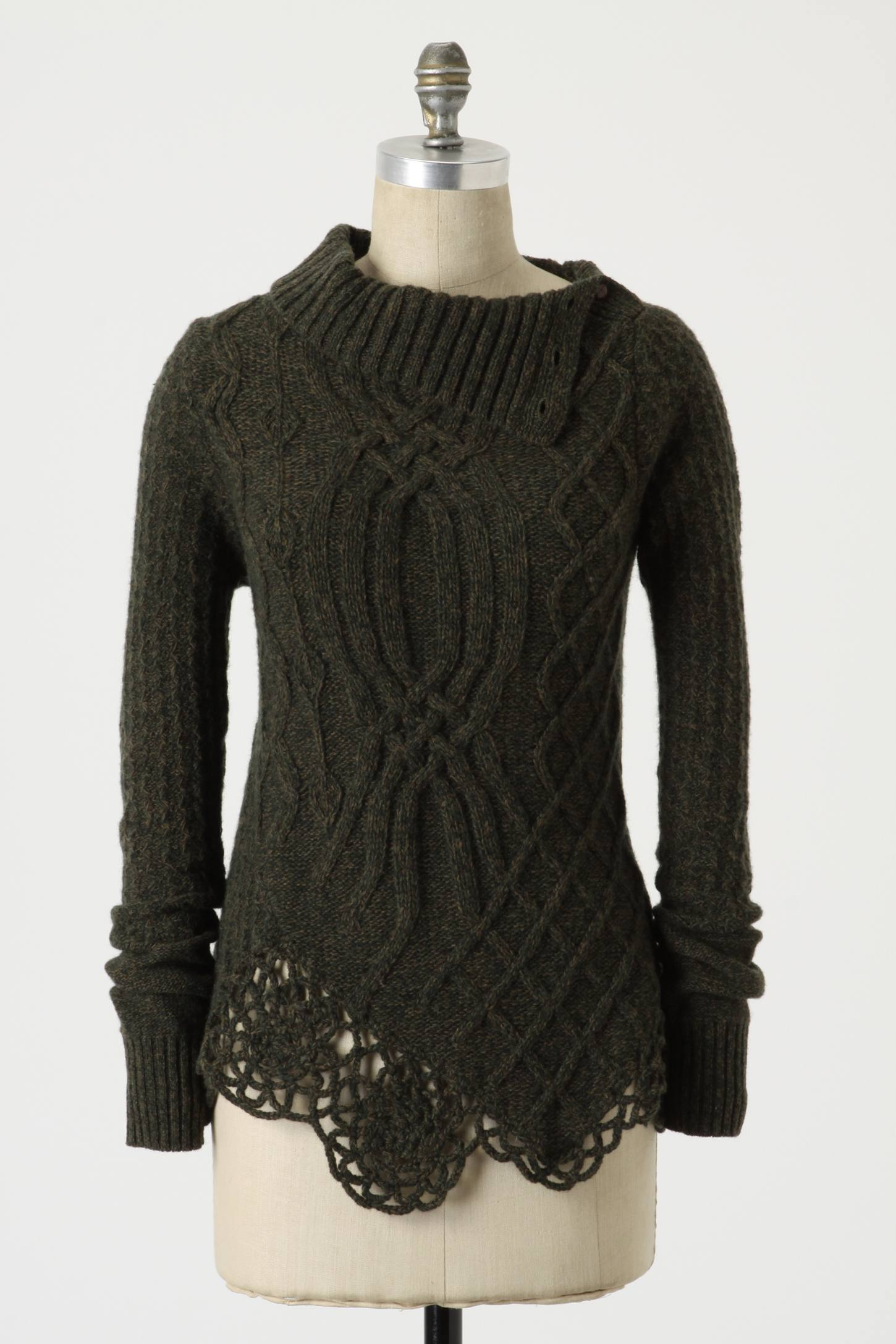 Cabled Pathways Pullover