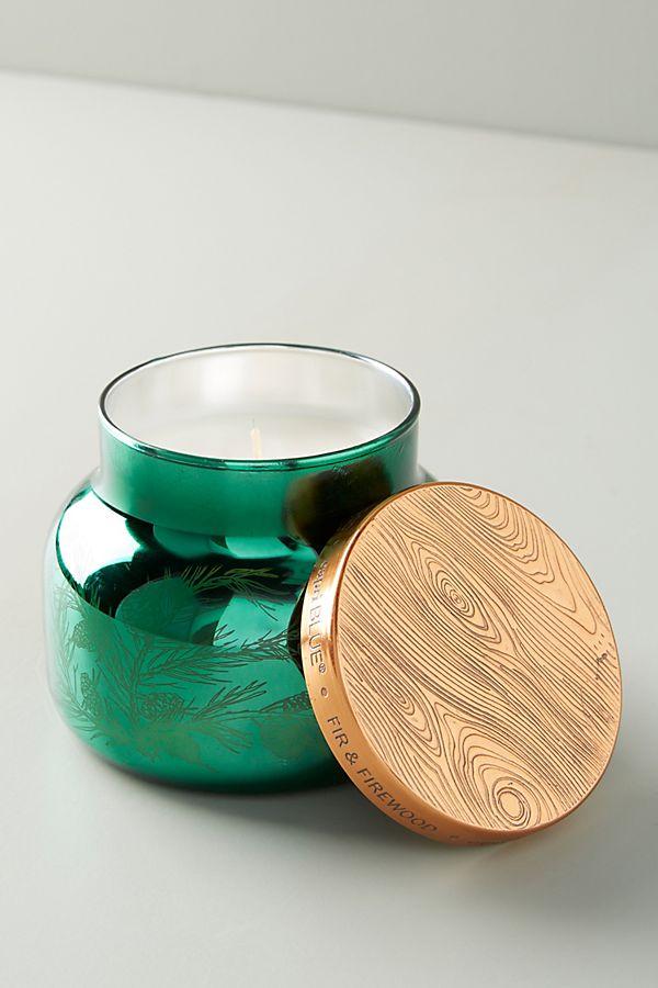Slide View: 1: Capri Blue Fir & Firewood Jar Candle