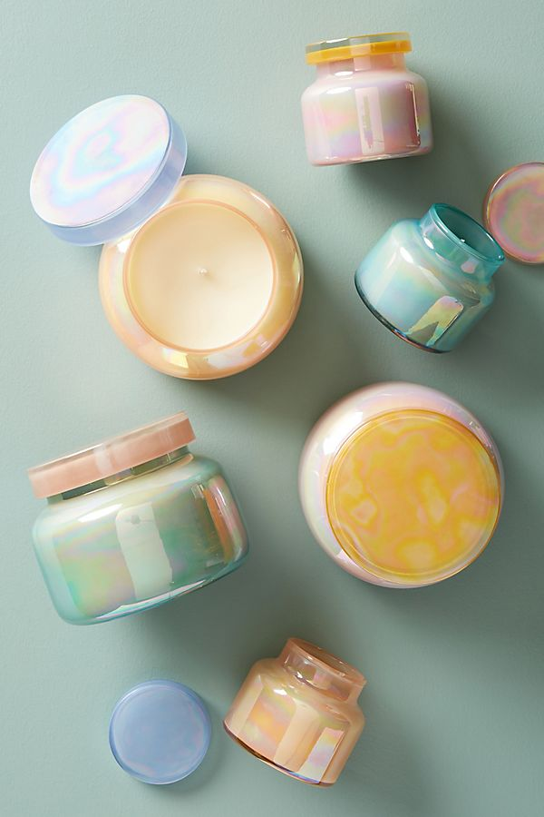 Capri Blue Iridescent Jar Candle | Anthropologie
