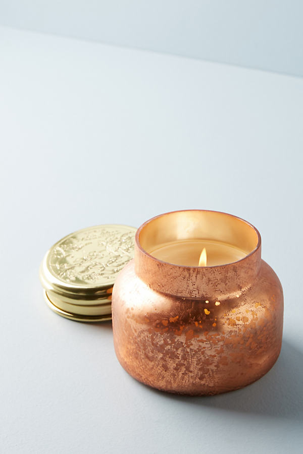 Capri Iridescent Jar Candle, Pumpkin - Dark Orange, Size S