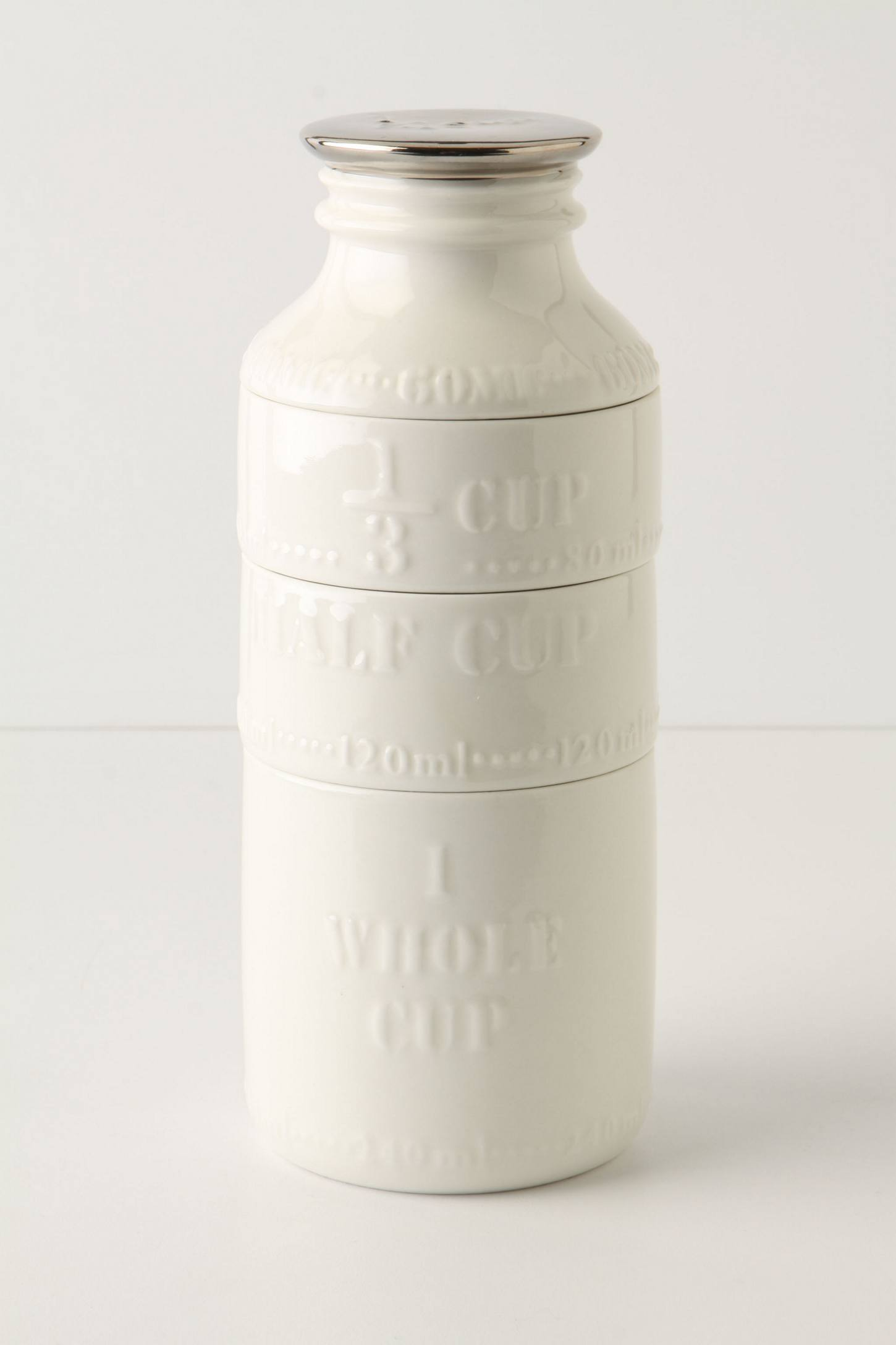 Slide View: 1: Milk Bottle Measuring Cups