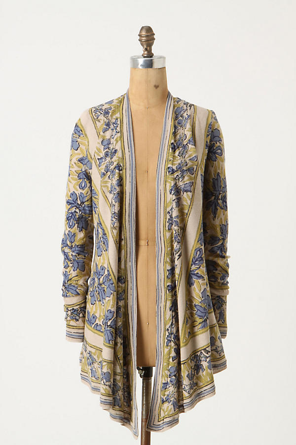 Slide View: 1: Pointed Tapestry Cardigan