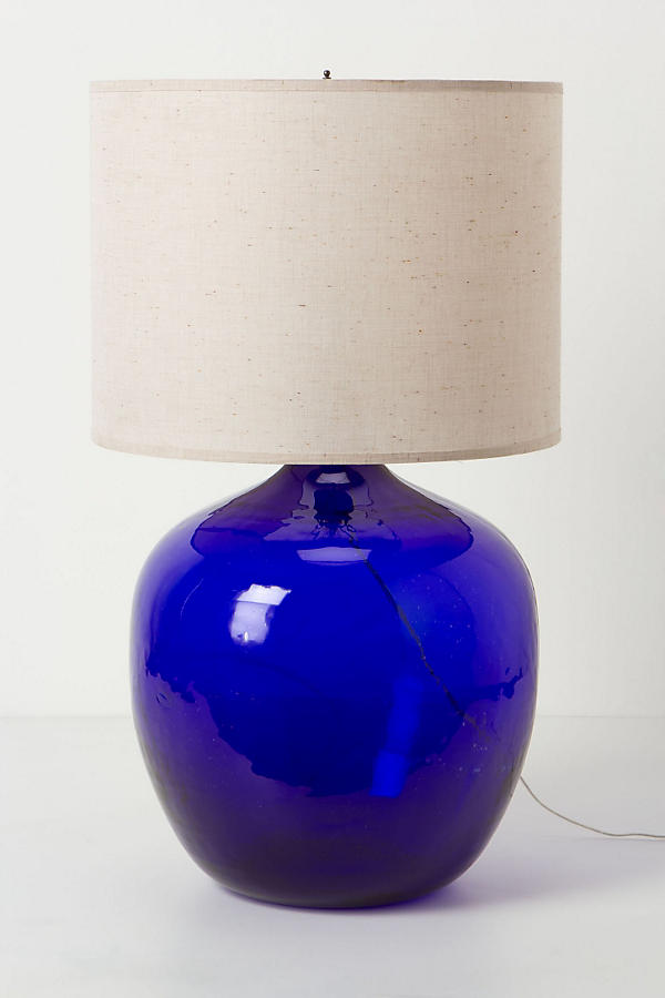 Found Decanter Lamp Ensemble