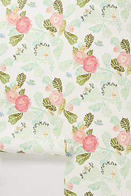 Slide View: 1: Watercolor Flora Wallpaper