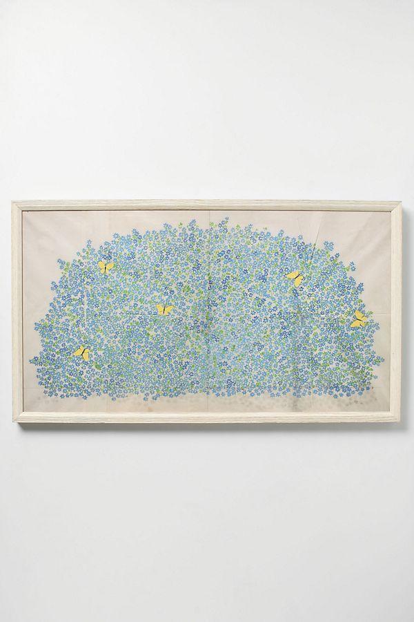 Butterflies Framed Art   Anthropologie